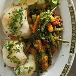 Sepie grillé avec des légumes SAUTÉ