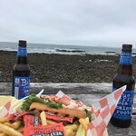 Lobster roll with a view.