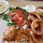 Fantastic white fish sandwich