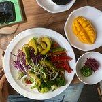 The salad concept照片
