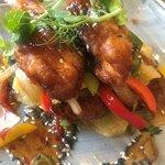 Honey chilli chicken goujons - delicious
