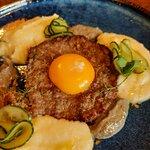 Бифштекс с картофельным пюре