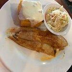 stuffed flounder with coleslaw