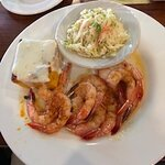 main course shrimp with coleslaw
