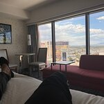 I want to thank Jamison for allowing me to enjoy my overnight stay at such a wonderful hotel.   First time in Vegas and his professionalism out weighed my long travels. The room was wonderful, hotel was great and perfect location to all attraction (literally out the doors of the property).  Would visit again
