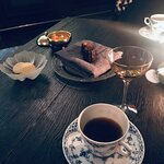 Kaffe, kaka och en cognac