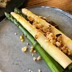 White and green asparagus simply divine again my photos don't do it justice