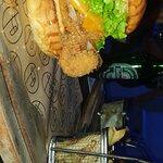 Hamburguesa con doble pechuga de pollo