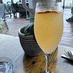 grapefruit-sage mimosa