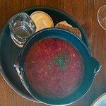 Белый Гриб: суп - борщ