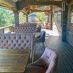 Белый Гриб: веранда ресторана