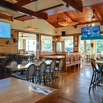 Lilikoi Restaurant has many TVs in the inside Dinning Area. It is very spacious and has lots of