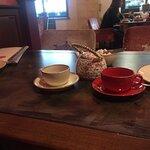 К сожалению, десерт не засняли, но ассортимент чая довольно интересный и обширный.