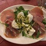 Parma ham and Mozzarella