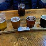 Flight of brew.