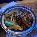 Korean BBQ wings & fries!