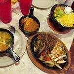 Fajitas and chicken tortilla soup