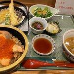 はらこ飯と天ぷら