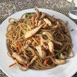 Noodle pollo e verdure