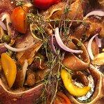 Crispy Pork ears in a pan