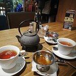 Чай заварной и варенье Айва и Инжир.