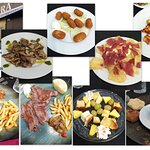collage de los platos que comimos