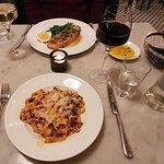 "Tagliatelle with venison ragout & Whole roasted sole ""Piccata"""