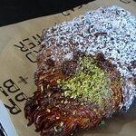 Pistachio and rosewater croissant