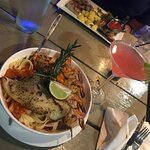 Caribbean seafood dish!