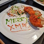 Chicken pakora, and lamb starter - stupendously tasty!