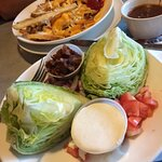 Huge wedge salad
