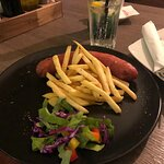Sausage with French fries
