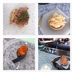 Tuna, Cheese tart, bread & ricotta