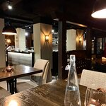 The restaurant has a cosy, intimate feel. Music was interesting and not intrusive.