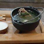 Шорпа, вкусное первое с жирным бульоном, картофелем и ягненком