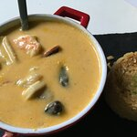 Seafood Stew and Coconut Rice