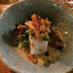 Arctic Cod with Jerusalem Artichoke Crisps & Mussel Frikasse