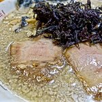 背脂煮干中華+ハーフばら海苔