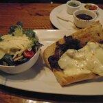 Italian Beef Sandwich and Salad