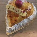 Corazón de souflé bizcocho y nada, increible!