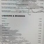 The menu....