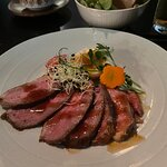 Roasted duck breast with sesame yuzu oil