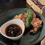 Tatsuta chicken bits with a dip