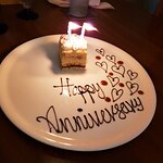 Special dessert for our anniversary