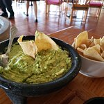 Freshly made tableside guacamole and homemade chips, SO GOOD!!!