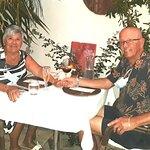Our lovely table setting at Secret Garden