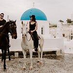 Santorini:Traditional wine village Horse riding tour