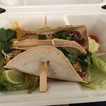Vegan taco with seitan