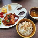 Miso glazed salmon set