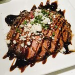 Portabella Mushroom – with blue cheese and balsamic glaze. Mushroom was doused in too much balsa